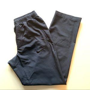 NIKE Dark Gray Black Logo Dri-Fit Track Pants